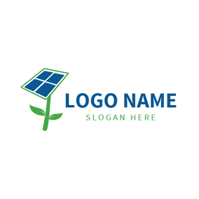 Tree and Solar Panel logo design