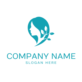 Tree Leaf and Green Hair logo design