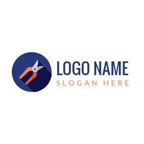 Tree Pruning Plier logo design