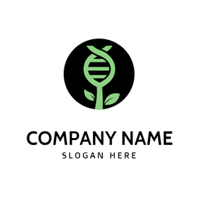 Tree Shape and Dna Structure logo design