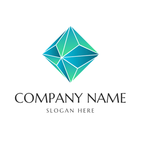 Triangle and 3D Crystal logo design