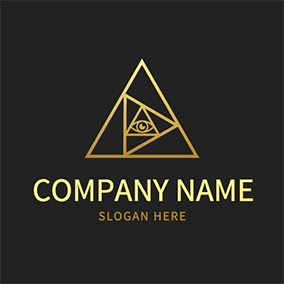 Triangle and Eye Alchemy Logo logo design