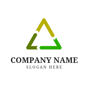Triangle and Recycle Sign logo design