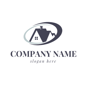 Triangle and Roof Icon logo design