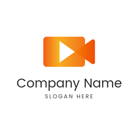 Triangle and Video Camera logo design