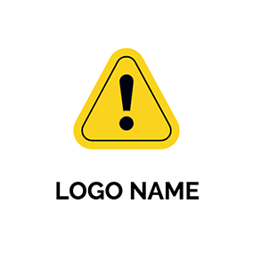 Triangle Overlay Exclamation Mark Warning logo design