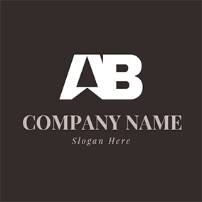 Triangle Simple Letter A B logo design