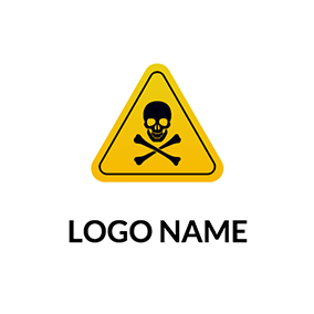 Triangle Skeleton Toxic Logo logo design