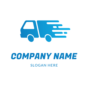 Truck Delivery Speed Courier logo design
