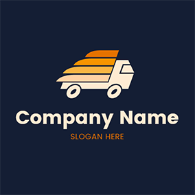 Truck Outline and Cargo logo design