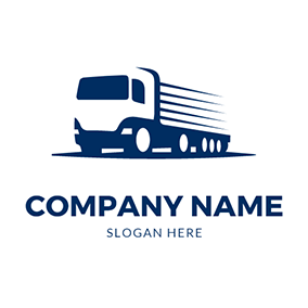 Truck Outline Delivery Courier logo design