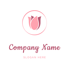 Tulip In Circle Logo logo design