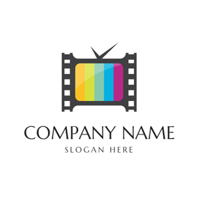 Tv and Media Icon logo design