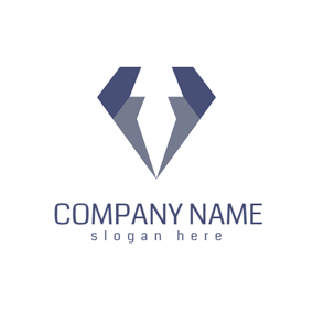 Unique Gray and Blue Jewelry logo design