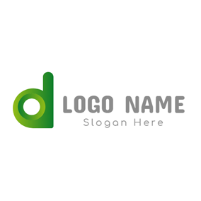 Unique Green Letter D logo design