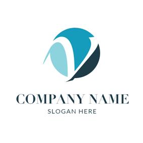 V Logo Design Png