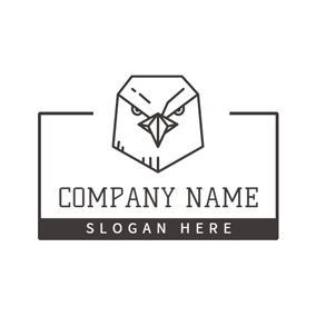 Unique Paper Eagle logo design