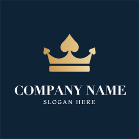 Valuable Crown and Ace Decoration logo design