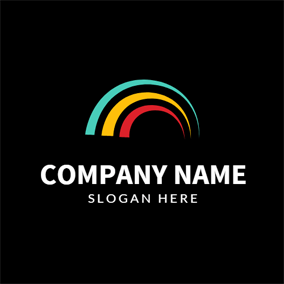 Vaulted and Simple Rainbow logo design