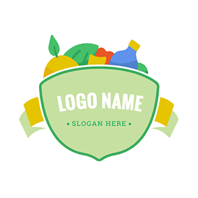 Vegetable Fruit Drinks Grocery logo design