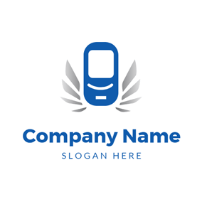 Vibrate Cell Phone logo design
