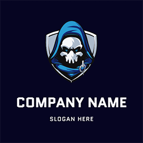 Villain and Shield logo design