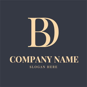 Vintage and Regular Letter B logo design