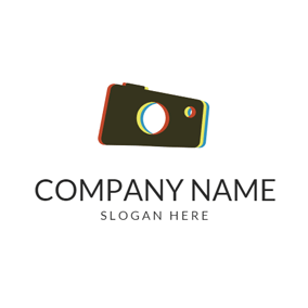 Vintage Camera Icon logo design
