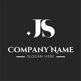 Vintage Simple Font Letter J S logo design