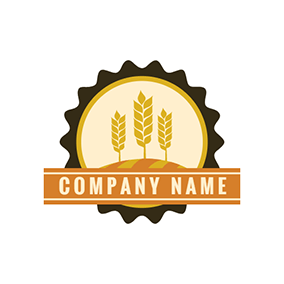 Vintage Style and Wheat Label logo design