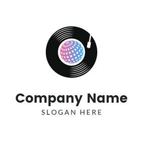 Vinyl Disco Icon logo design