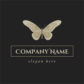 Visual Brown Butterfly logo design