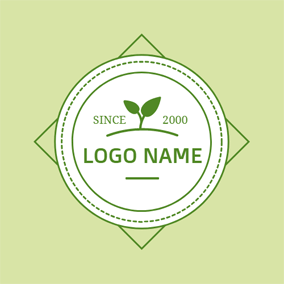 Vivifying Green Sprout logo design