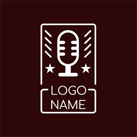 Voice and Microphone Icon logo design