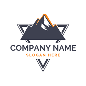 Volcano and Triangle logo design