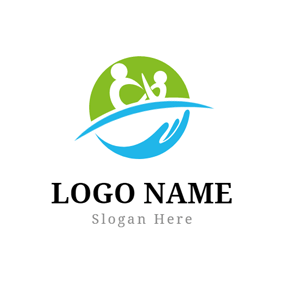 Warm Family and Caring Hand logo design