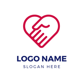 Warm Hand and Heart logo design