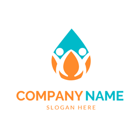 Water Drop and Abstract Student logo design