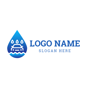 Water Drop and Car logo design