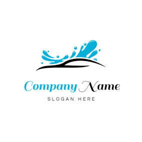 Water Splash and Abstract Car logo design