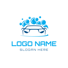 Water Spray and Abstract Car logo design