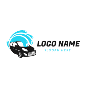 Water Spray and Black Car logo design