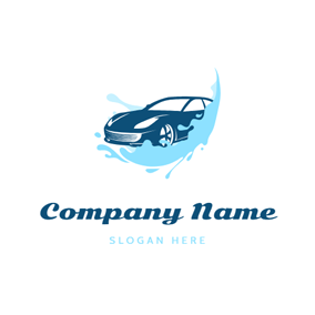 Water Spray and Car logo design