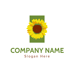 Watercolour and Sunflower Icon logo design
