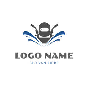 Welding Clothes and Welding Torch logo design