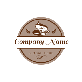 Wheat and Sweet Cake Piece logo design