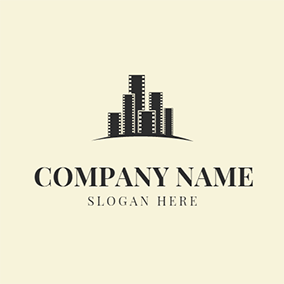 White and Black Architecture logo design