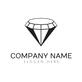 White and Black Diamond logo design