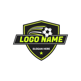 White and Black Football logo design