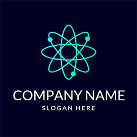 White and Black Science Sign logo design